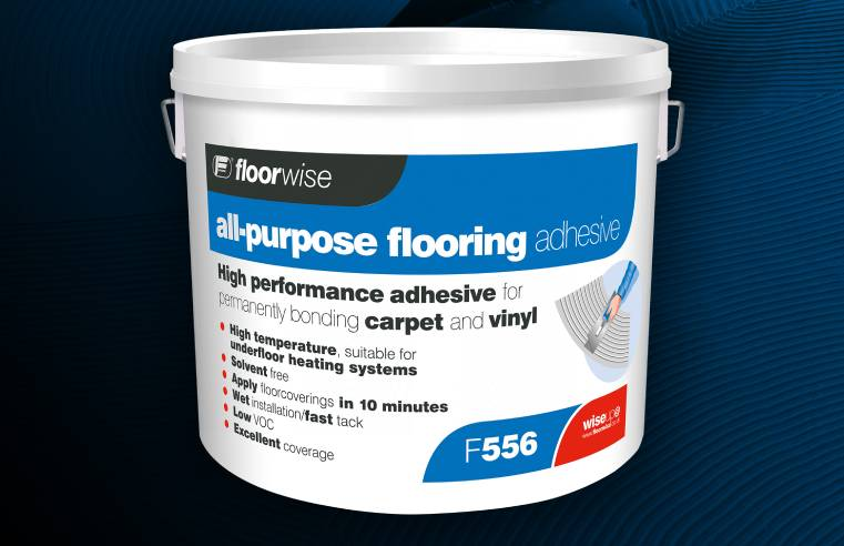 Floorwise has launched F556, a great all-round adhesive for sticking down most floorcoverings.