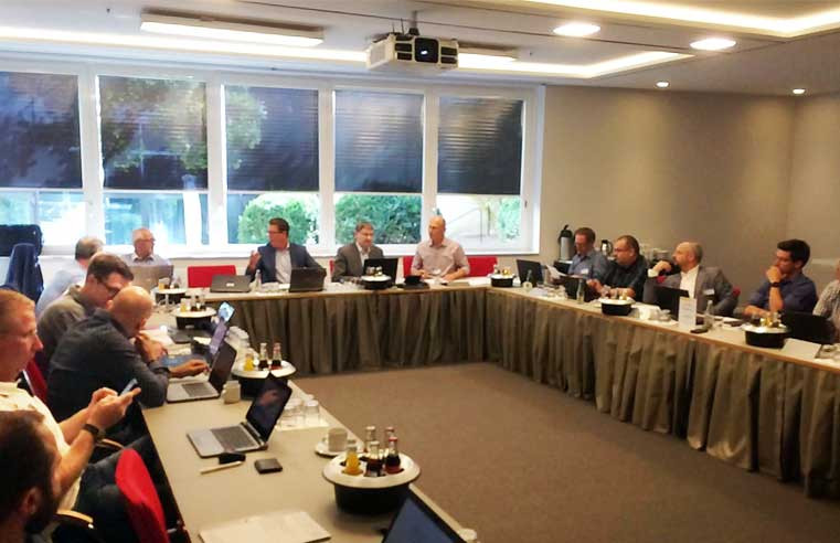 Members of the European Producers of Laminate Flooring (EPLF) recently held a meeting in Germany to set the course for new research projects.