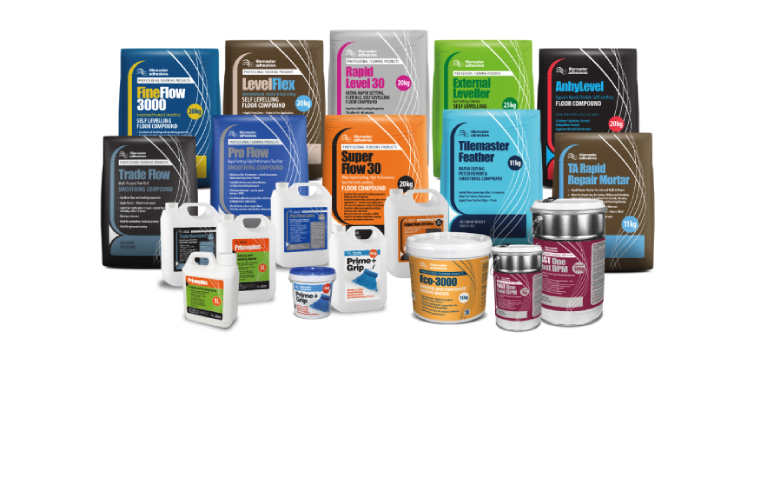 Tilemaster Adhesives Subfloor Preparation Products for Resilient Floorcoverings
