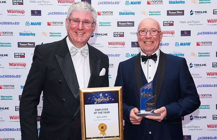 Tilemaster Adhesives Glynn Griffin TTA Employee of the Year