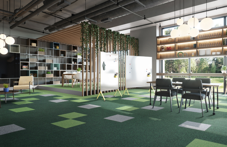 First carpet tile collection from modulyss