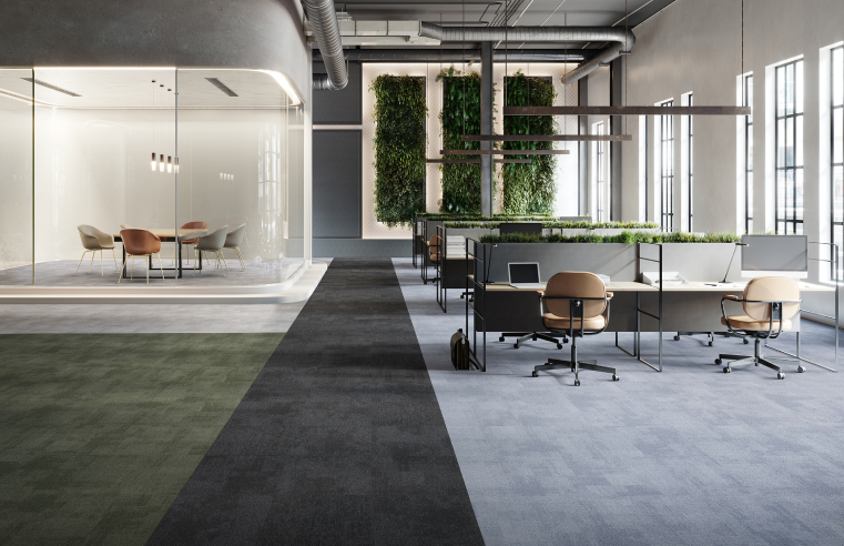 Rudiments carpet tile collection From IVC Commercial.