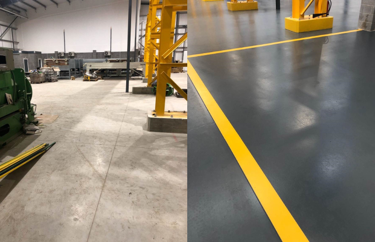 Bradite DP9 Floor-It Transforms warehouse floor