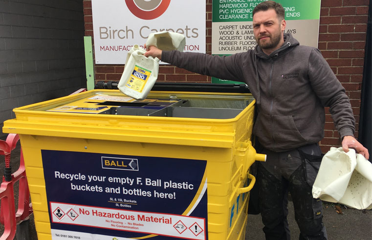 F. Ball Partners with Recofloor to Cut Plastic Waste