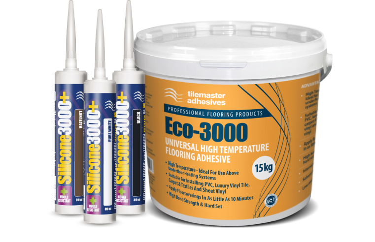 High temperature flooring adhesive and sealant from Tilemaster Adhesives