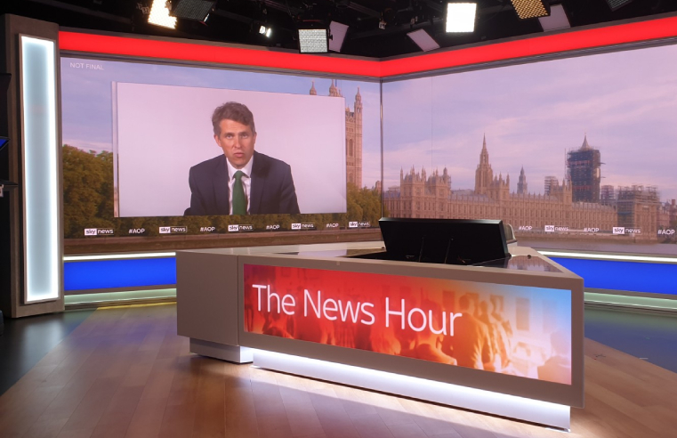 F. Ball provides super smooth and durable floor finish for Sky news studio