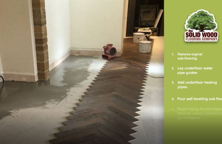 The Solid Wood Flooring Company Underfloor Heating Installation Video with herringbone parquet flooring