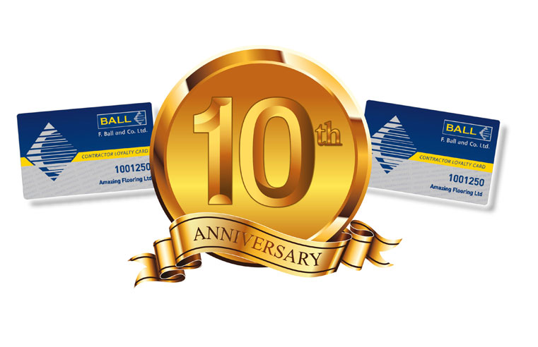 F. Ball to celebrate 10 years of the F. Ball Loyalty Card Scheme at The Flooring Show