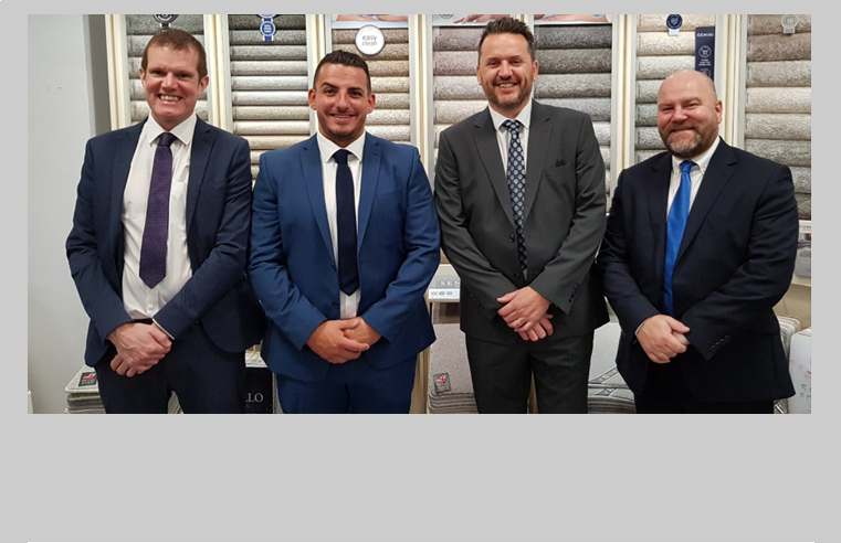 New Appointments at Cormar Carpet Company. Pictured left to right: Paul Lowndes, Chard Haesler, Simon Dickinson and Alan Stewart.