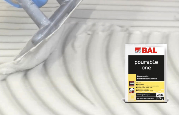 BAL Pourable One Makes Floor Tiling Easy